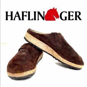 Brown Suede Haflingers